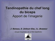 Tendinopathie du chef long du biceps Apport de l'imagerie