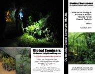 Conservation Biology & CU-Boulder Global Seminars: BRAZIL