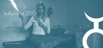 Ladda hem kulturprogrammet för hösten 2013 - Gislaveds kommun