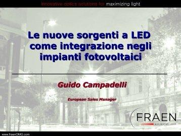 Le nuove sorgenti a LED come integrazione negli ... - Tecnoimprese