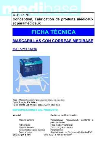 FT Mascarillas con cintas MB ESP - DVD