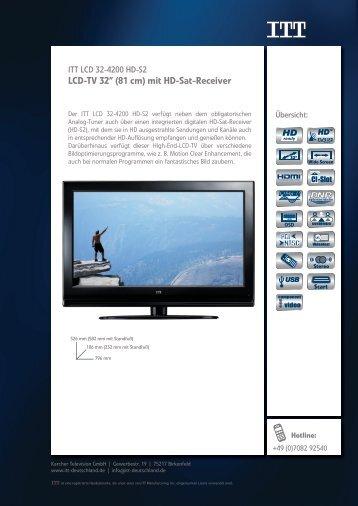 "LCD-TV 32"" (81 cm) mit HD-Sat-Receiver - Prad"