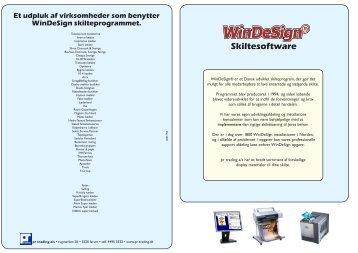 Et udpluk af virksomheder som benytter WinDeSign ... - PR-Trading