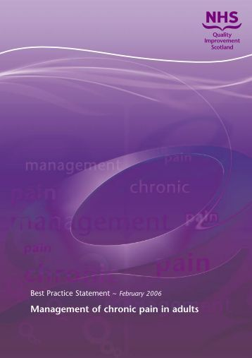 Management of chronic pain in adults
