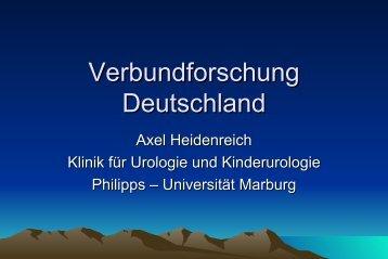 Verbundforschung Deutschland - Deutsche ... - Urologenportal