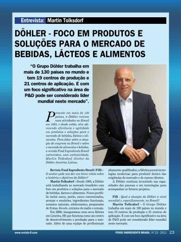 martin tolksdorf diretor da dohler amã‰rica latina - Revista FiB