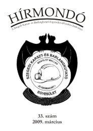 33. szám 2009. március - Szegedi Karszt- és Barlangkutató Egyesület