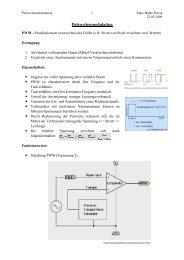 Pulsweitenmodulation Handout - Projektlabor - TU Berlin