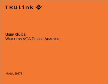 USER GUIDE WIRELESS VGA DEVICE ADAPTER - Cables To Go