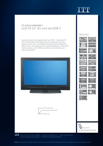 "LCD-TV 32"" (81 cm) mit DVB-T - Prad"