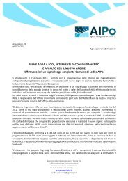 Comunicato 2012_22 - Agenzia Interregionale per il fiume Po