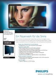 52PFL9703D/10 Philips Flachbildfernseher mit Perfect Pixel HD - Prad