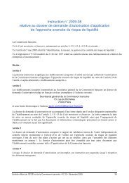 Instruction 2009-08 relative au dossier de demande d'autorisation d ...