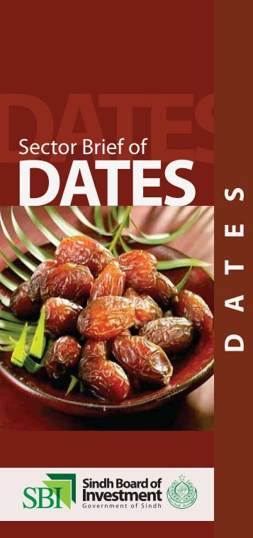 Sector brief Dates - Sindh Board Of Investment, Government Of Sindh