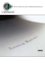 Annula Report 2003 - Ce.Ri.S.Ma.S.