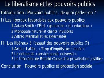 Le libéralisme et les pouvoirs publics - Laval