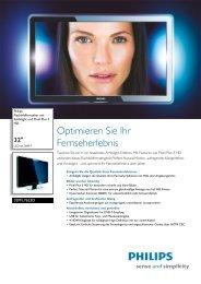 32PFL7623D/10 Philips Flachbildfernseher mit Ambilight und ... - Prad