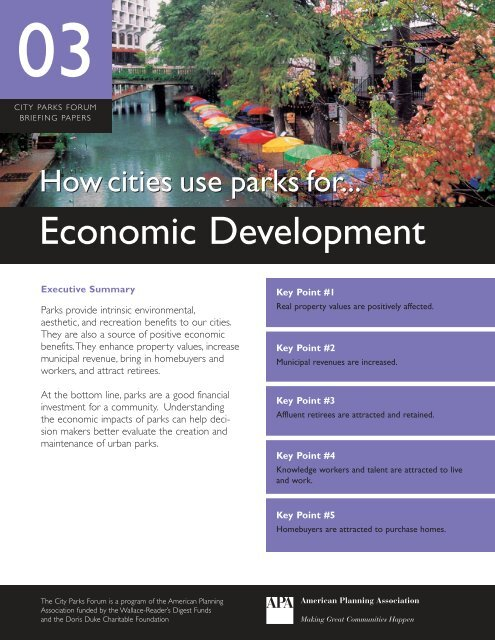 How Cities Use Parks for Economic Development