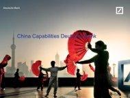 Deutsche Bank in China