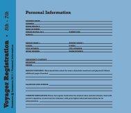 V o y ag er Registration • 5th - 7th - Lausanne Collegiate School