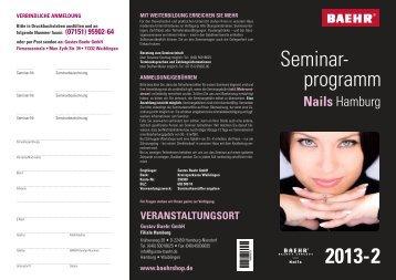 Seminarprogramm Hamburg Nails 2013-2