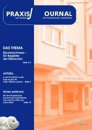 Praxisjournal November 2001 (pdf-Datei 1,9 MB - Praxisklinik ...