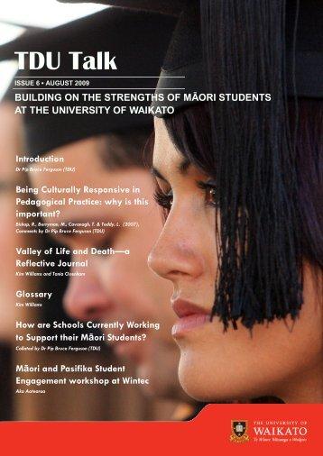 August 2009 TDU Talk - The University of Waikato