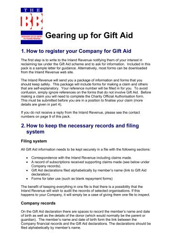 Gift aid declaration form real circumstance gift aid pack the boys brigade negle Images