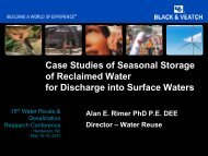 Case Studies of Seasonal Storage of Reclaimed Water - WateReuse ...