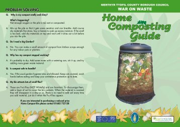 Home Composting Guide - Merthyr Tydfil County Borough Council