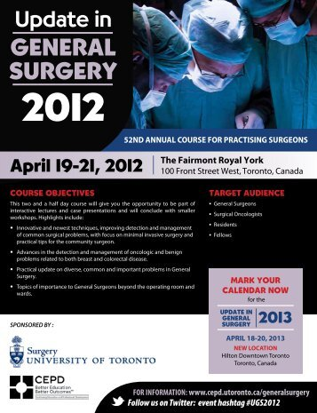Division of General Surgery - University of Toronto