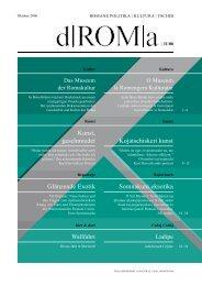 Download d|ROM|a 11, Oktober 2006 als PDF - Roma-Service