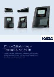 Für die Zeiterfassung – Terminal B-Net® 93 40 - TimeDesign