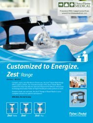 Zest Nasal CPAP Mask - Product Brochure (PDF) - Direct Home ...