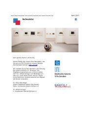 April 2013 - Städtische Galerie Villa Zanders