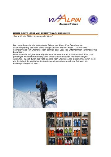 Bergsportreisen - Via-Alpin.de