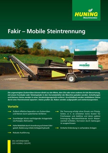 Fakir – Mobile Steintrennung - Huning Maschinenbau
