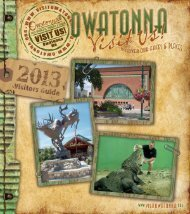 to View the Visitor Guide - Owatonna Chamber of Commerce