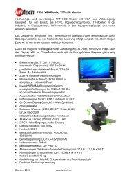7 Zoll VGA Display TFT-LCD Monitor Hochwertiges und - Prad