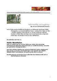 Halle Westfalen - Quartier-Halle