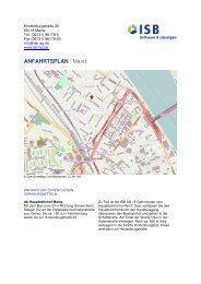 ANFAHRTSPLAN | Mainz - ISB AG