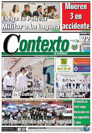 22/06/2013 - Contexto de Durango