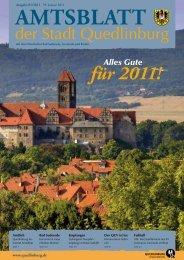 für 2011! Alles Gute - Quedlinburg