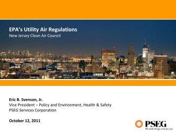 October 12, 2011 EPA's Utility Air Regulations - PSEG