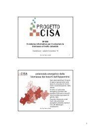 Il sistema informatico per calcolare la biomassa a ... - Centro CISA