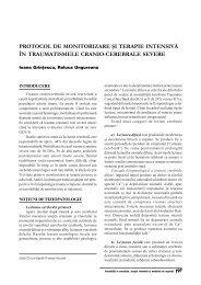 Protocol de monitorizare si tratament in traumatismele crani