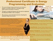 Professional Certificate in Energy Programming and Evaluation