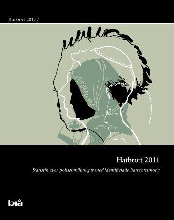 Rapport 2012:7 Hatbrott 2011 - Brottsförebyggande rådet