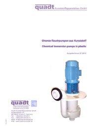 Chemie-Tauchpumpen aus Kunststoff Tauchpumpen aus Kunststoff ...