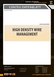 HIGH DENSITY WIRE MANAGEMENT - Conteg